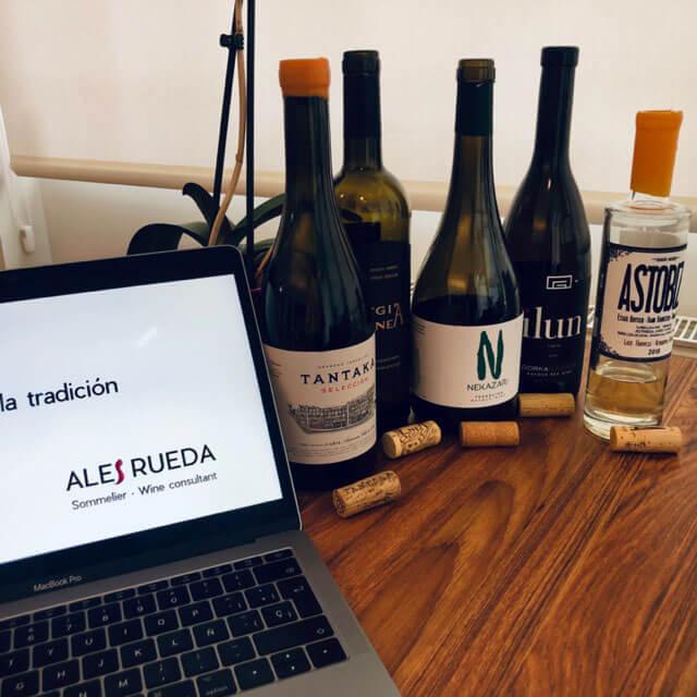 Cata de vinos online: para disfrutar del vino sin moverte de casa.